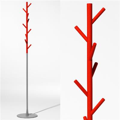 Sticks floor - rouge/gris