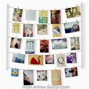 Hangit Photo Display Blanc - STOP