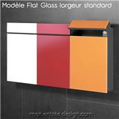 Flat Wide Glass Orange