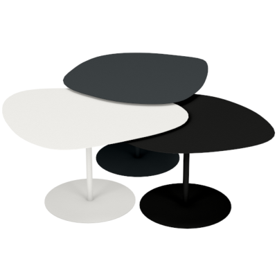 Lot de 3 tables basses gigognes Galet